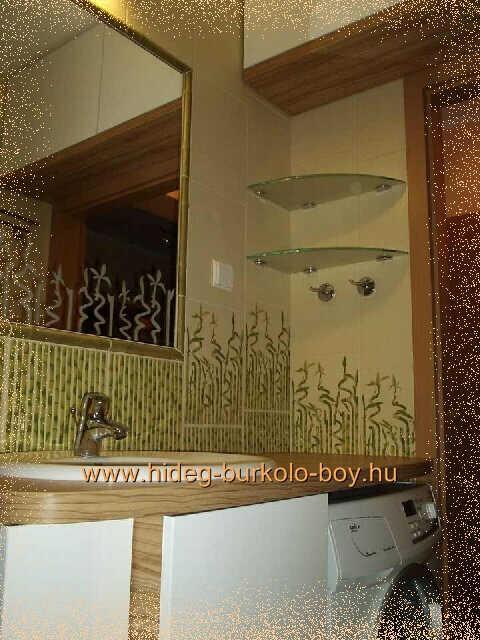 bambusz dísz csempe