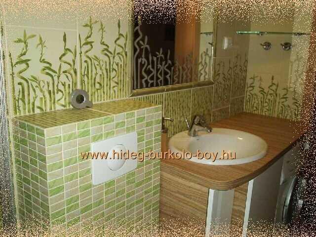 bambusz díszítés fürdőszobában