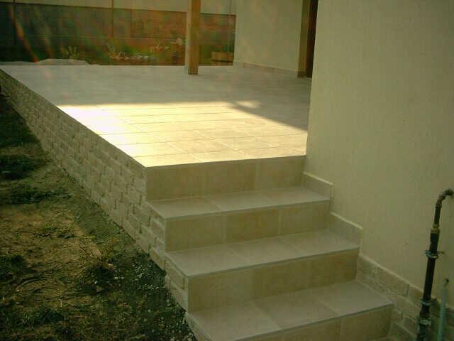 terasz lépcső burkolás