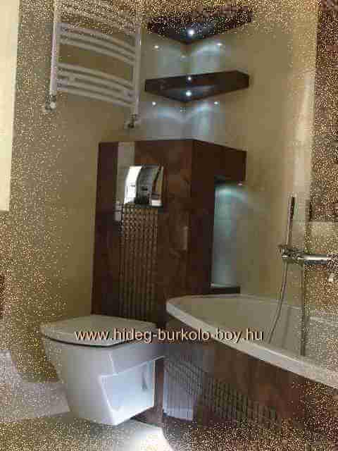 8359d86549b8 Bézs, barna burkolat a fürdőszoba falán