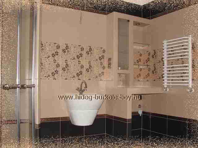 Bézs csempe a fürdőszoba színe