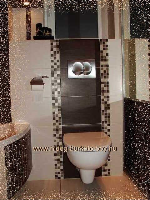 Bézs és barna remek fürdőszoba csempe színek!