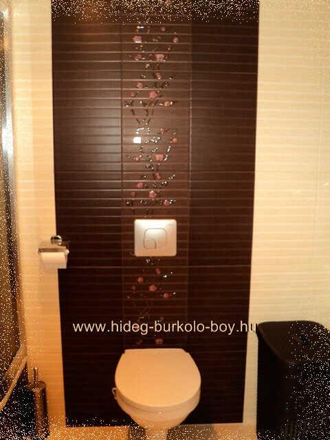 Bézs és barna csempe a fürdőszoba burkolat alapszinei között