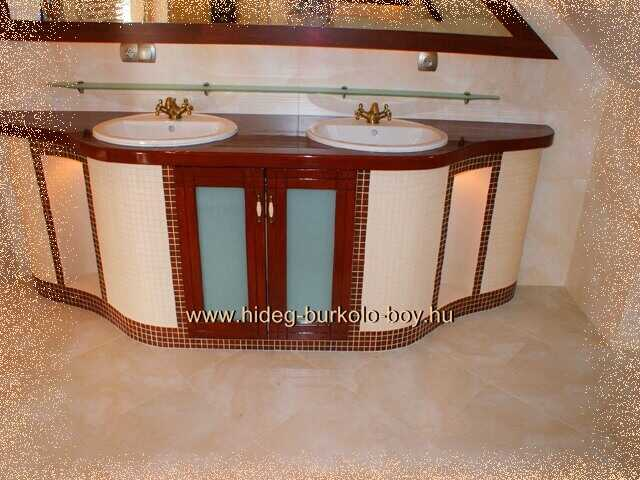 bézs csempe,épített mosdópult