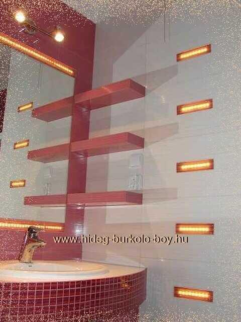 világító led fürdőszobában