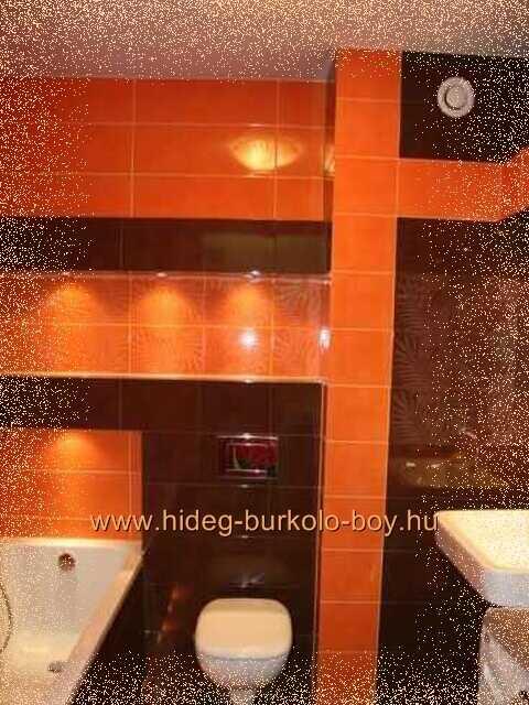 Narancs színü fürdőszoba