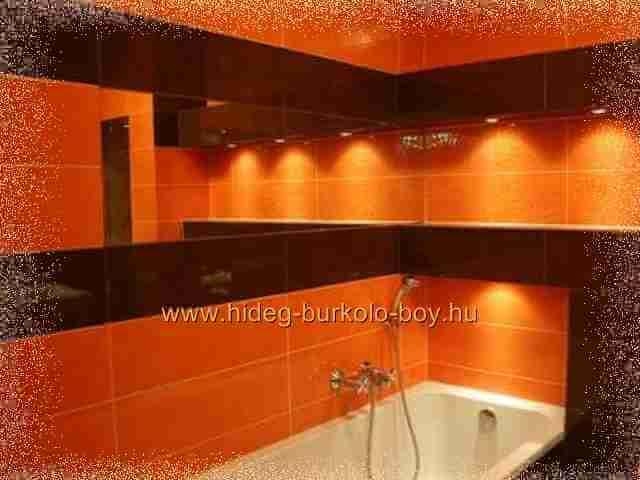 fürdőszoba narancs enteriőr