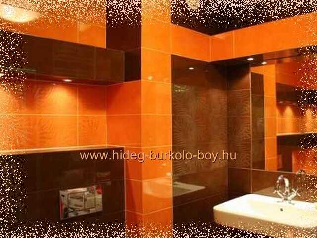 fürdőszoba narancs design