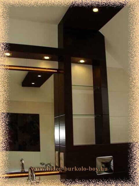 Épített polc segítségével jelentősen látványosabbá tehetjük a fürdőszobát!