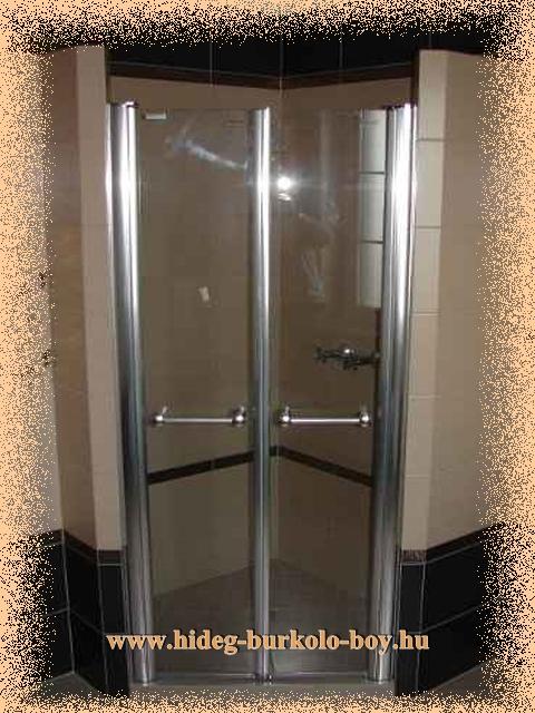 sarokba épített zuhanykabin