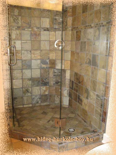 mediterrán jellegű zuhanykabin