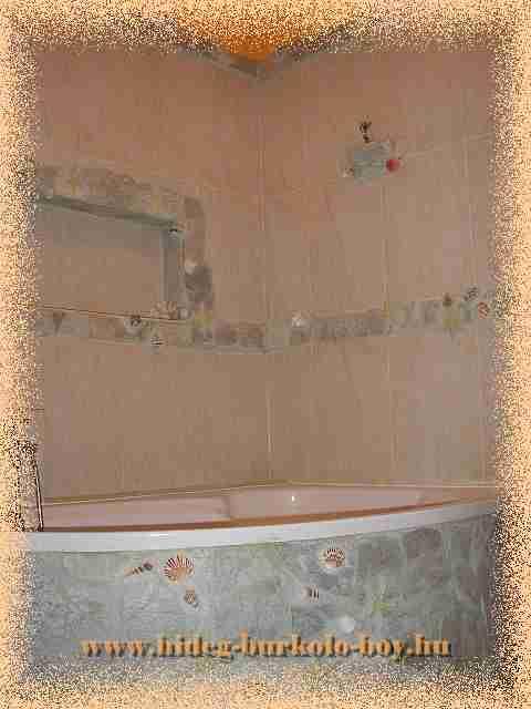 Fürdőkád természetes kő design