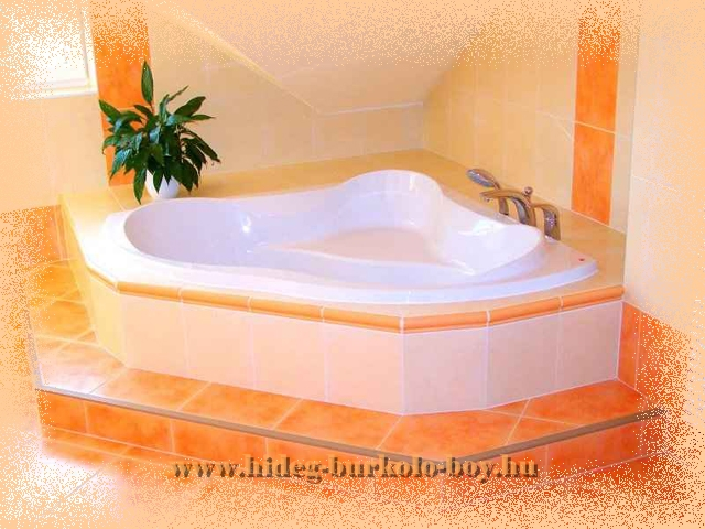 Egy dóbogóra épített kád hangsúlyozottan figyelem felkeltő jelenség, ráadásul a színek ügyes kombinációja még jobban szem elénk tárja ezt a fürdőszoba kádat.