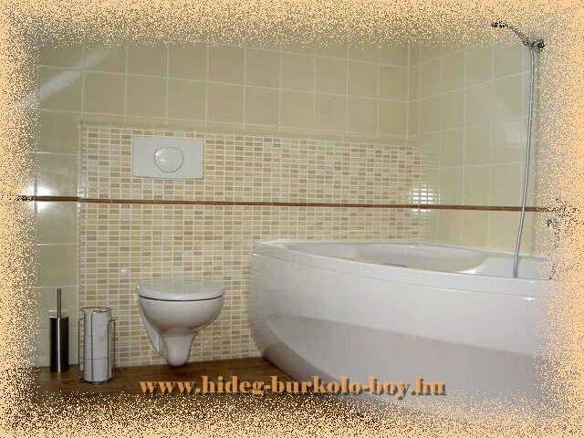 Gyári előlappal szerelt fürdőszobai kád