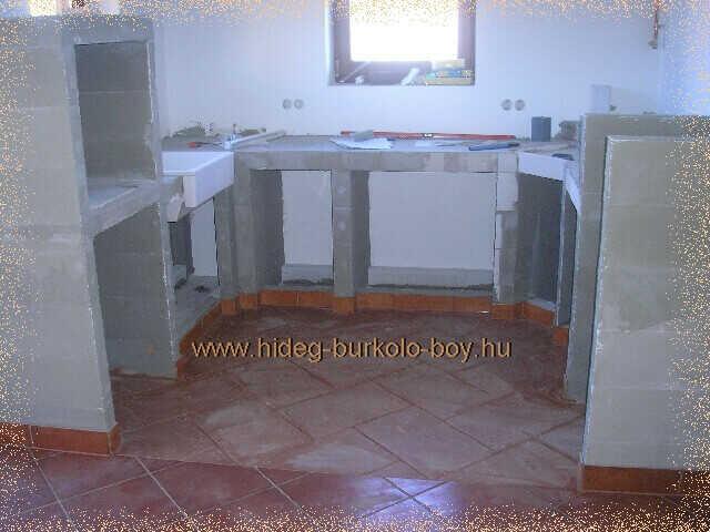 komplett u alakú épített konyhabútor