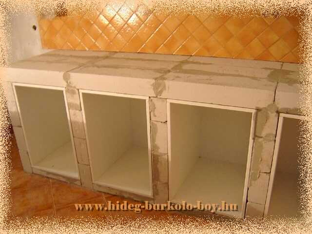 konyhabútor váz építés