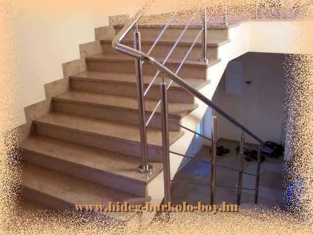 Lépcső burkolás, gránit kerámia, klinker, mészkő burkolo lapokkal