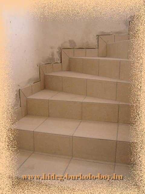 Lépcső burkoló lap fordulóval