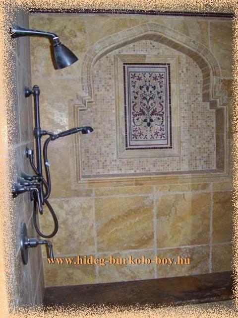 zuhanyzó falfülke