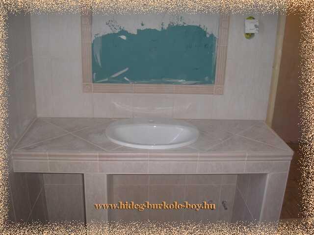 Hogyan készűl az épített mosdó