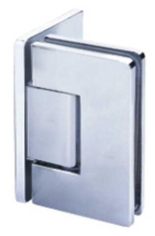 Üvegajtó zsanér mely közvetlen a burkolásra rögzíti az ajtót