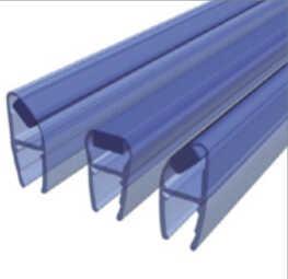 Zuhanyajtó élzárásához használható polikarbonát anyagú vizzáró, mágneses találkozási felülettel több szögben beépíthető