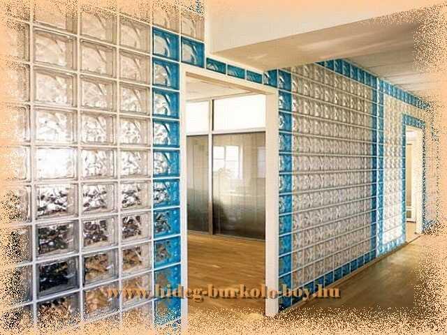 Térelválasztó üvegtégla fal