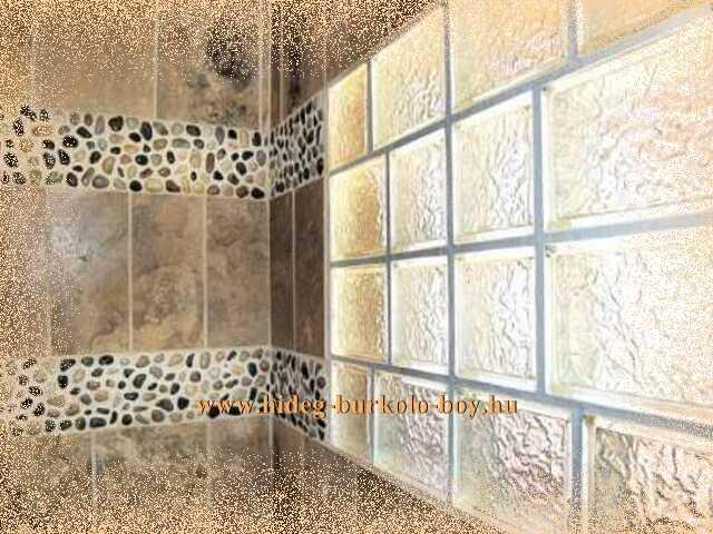 zuhanykabin bevilágító üvegtéglával