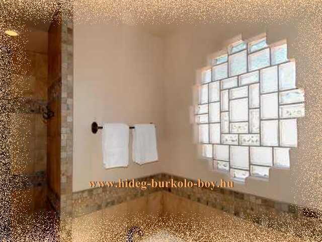 üvegtégla bevilágító fürdőszobába