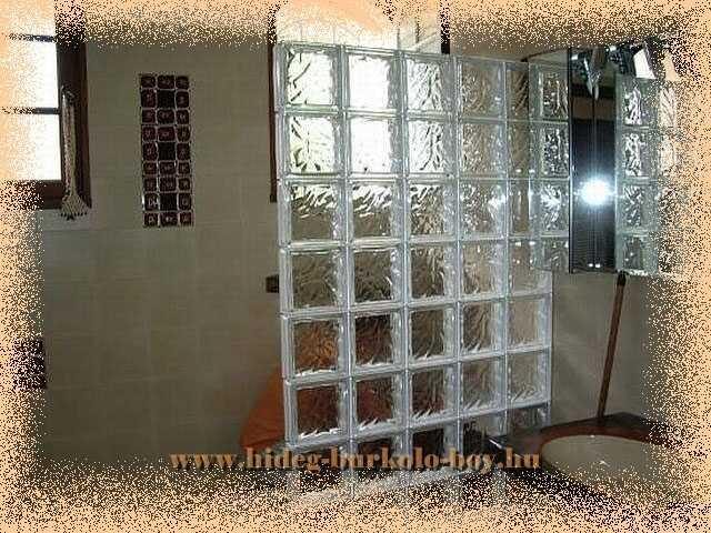 wc lehatároló üvegtégla fal