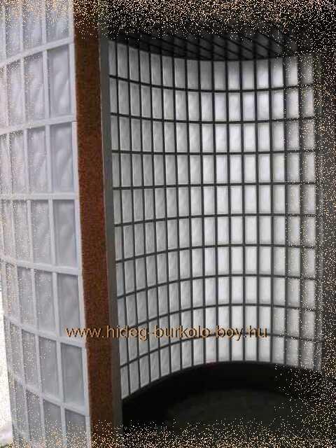 külső terek elhatárolása üvegtéglával
