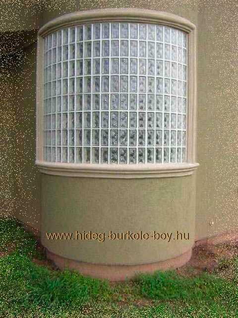 Íves üvegtégla falak készítése