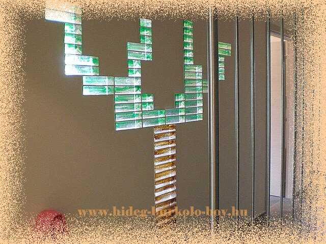 kreatív üvegtégla falak