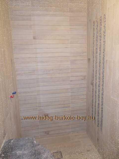 világító mozaik készítése épített zuhanyzóba