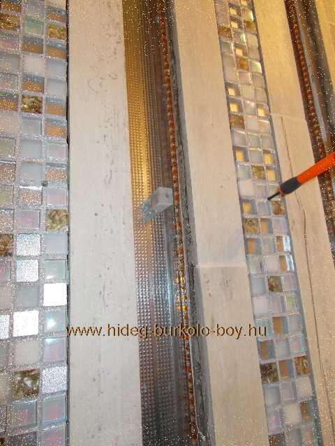 csavaros rögzítés világító mozaik bordűr