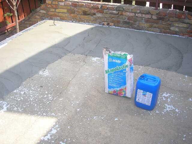 Terasz vízszigetelése 2 komponensü anyaggal