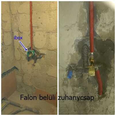 zuhanyzó csaptelep falsíkon belüli