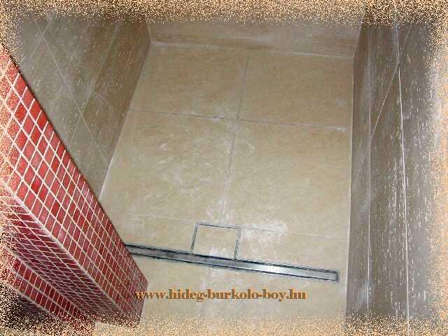 Vonal elvezetésü zuhanyzó összefolyó nem engedi a zuhanyzáskor használt víz kijutását a fürdőszobába